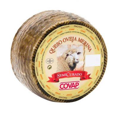 Queso de oveja merina semicurado 1,2kg-1,5kg.
